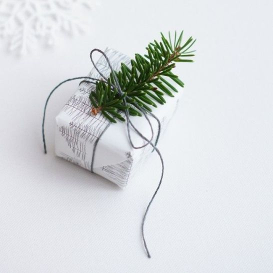 DIY gift wrap for Christmas #youneedacocktail