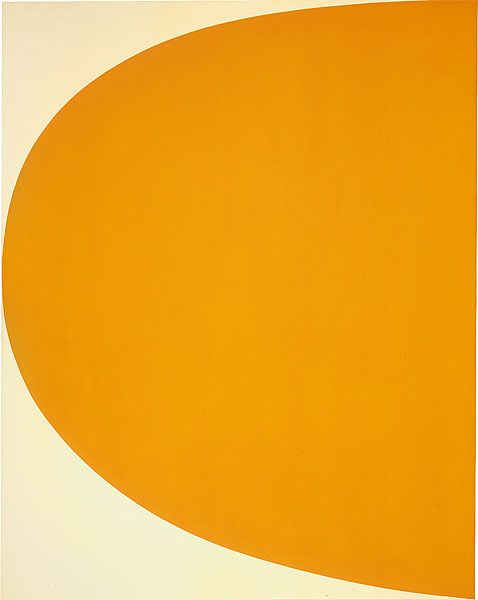 Ellsworth Kelly Orange curve