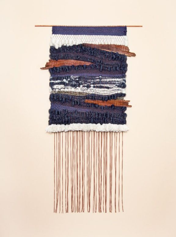 Palm Tree Bark Two weaving by Brook and Lyn
