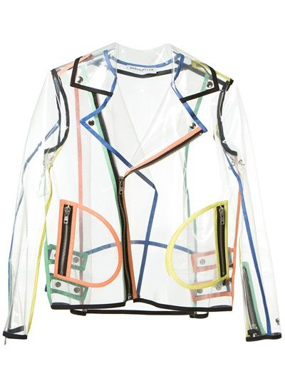 Wanda Nylon Transparent Biker Jacket - Solis - Farfetch.com