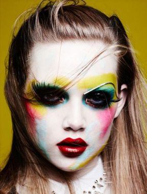 Fantastic makeup creatives inspired by legendary fashion illustrator Tony Viramontes for Vogue Germany by Marla Belt