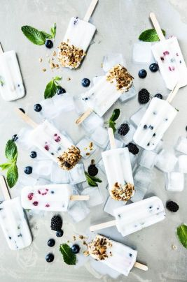 Berry Healthy Coconut Milk Popsicles on http://apartment34.com
