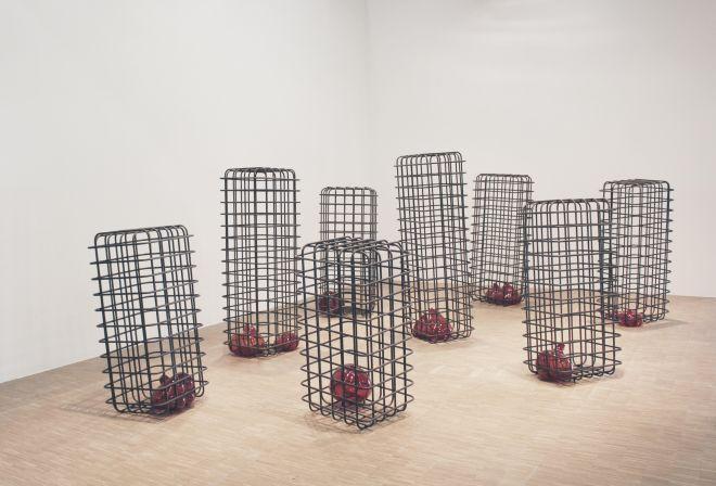 Cellules, 2012-2013 | Mona Hatoum exhibition, Centre Pompidou, Paris | Photographed by Clarissa of Youneedacocktail