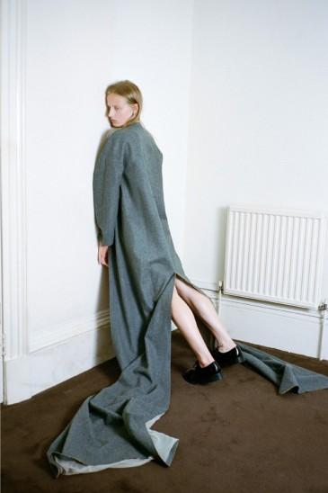 «Coat and Underwear» editorial from Lula Japan, photographed by Hart+Lëshkina, styling by Mana Yamamoto, hair by Hiroshi Matsushita, makeup by Nobuko Maekawa, model Anine van Velzen at Paparazzi Models.